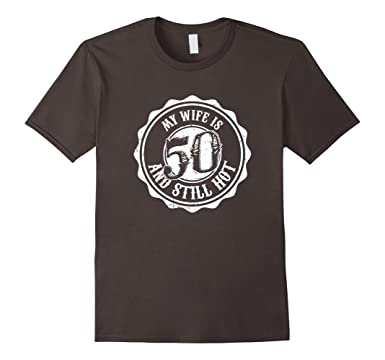 Mens My Wife Is 50 Years Old Great Birthday Gift For Husband 3XL Asphalt