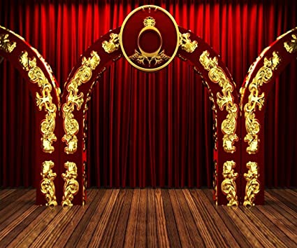 Amazon com : 10x8 ft Red Stage Backdrop for Photo Studio