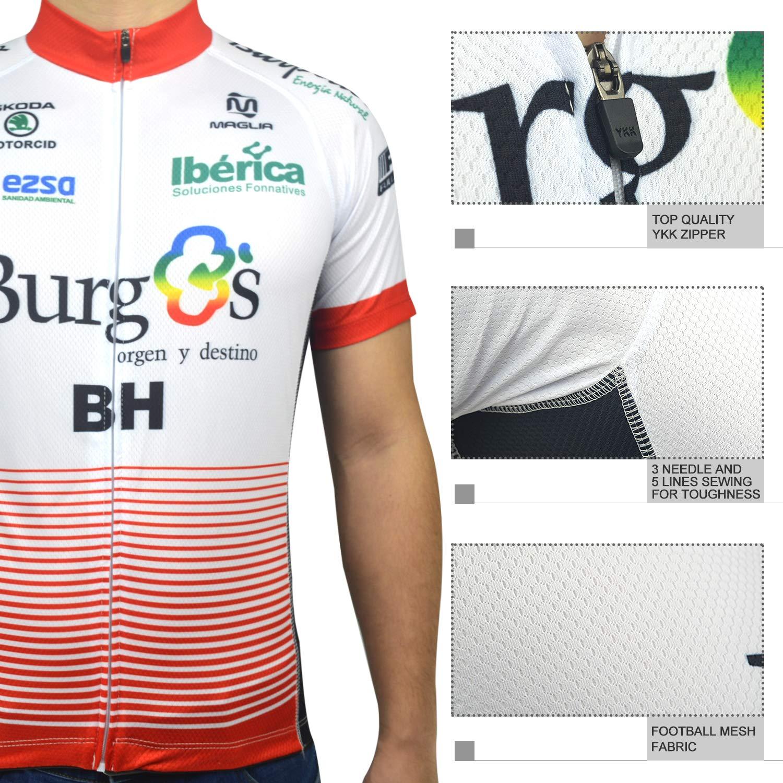 ZHLCYCL Traje Ciclismo Hombre Maillot Ciclismo y Culotte Ciclismo con 5D Gel Pad para Verano Deportes al Aire Libre Ciclo Bicicleta
