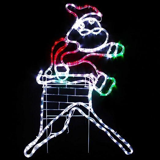 Werchristmas animated chimney santa rope light silhouette large werchristmas animated chimney santa rope light silhouette large multi colour amazon garden outdoors aloadofball Gallery