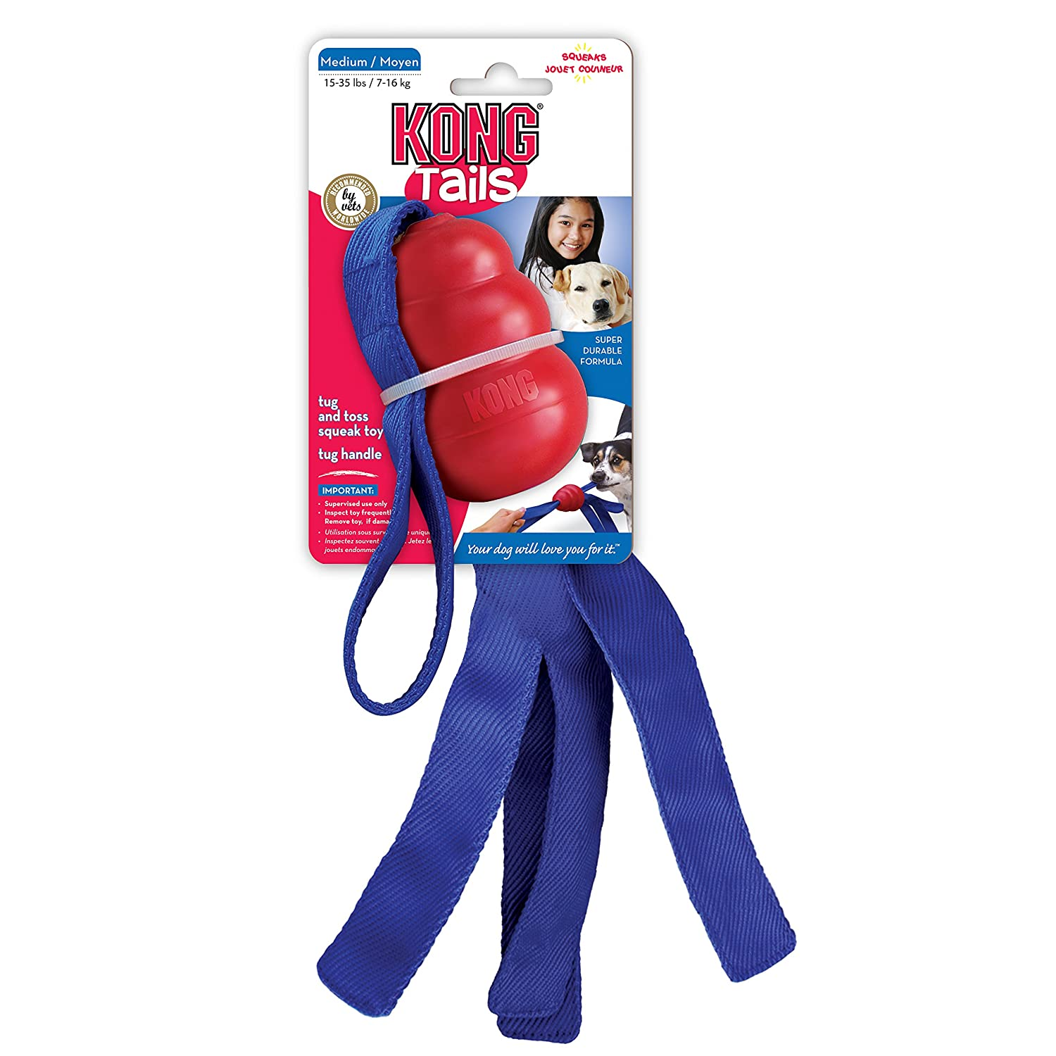 Kong 0035585112008 - Tails large red KT1