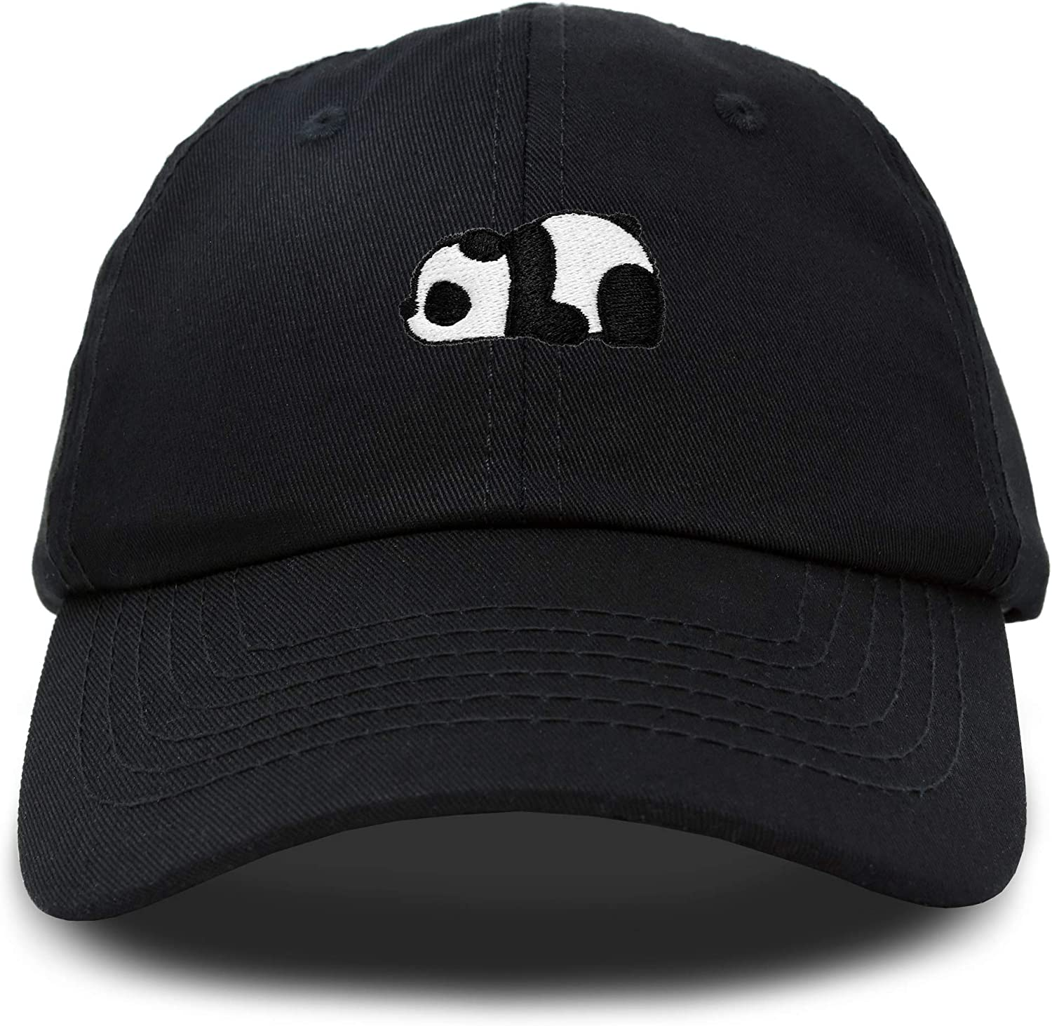 DALIX Cute Baby Panda Womens Dad Hat Baseball Cap Embroidered in Black: Clothing