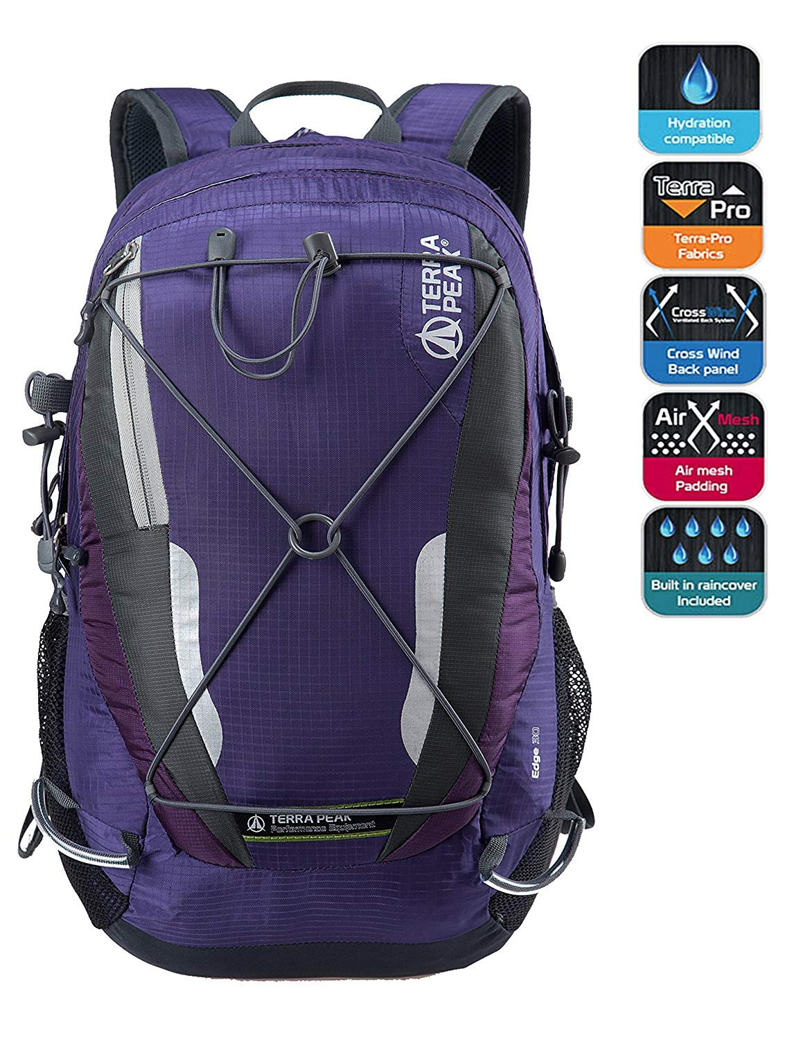 TERRA PEAK Adjustable Hiking Backpack 55L 65L 85L 20L for Men Women