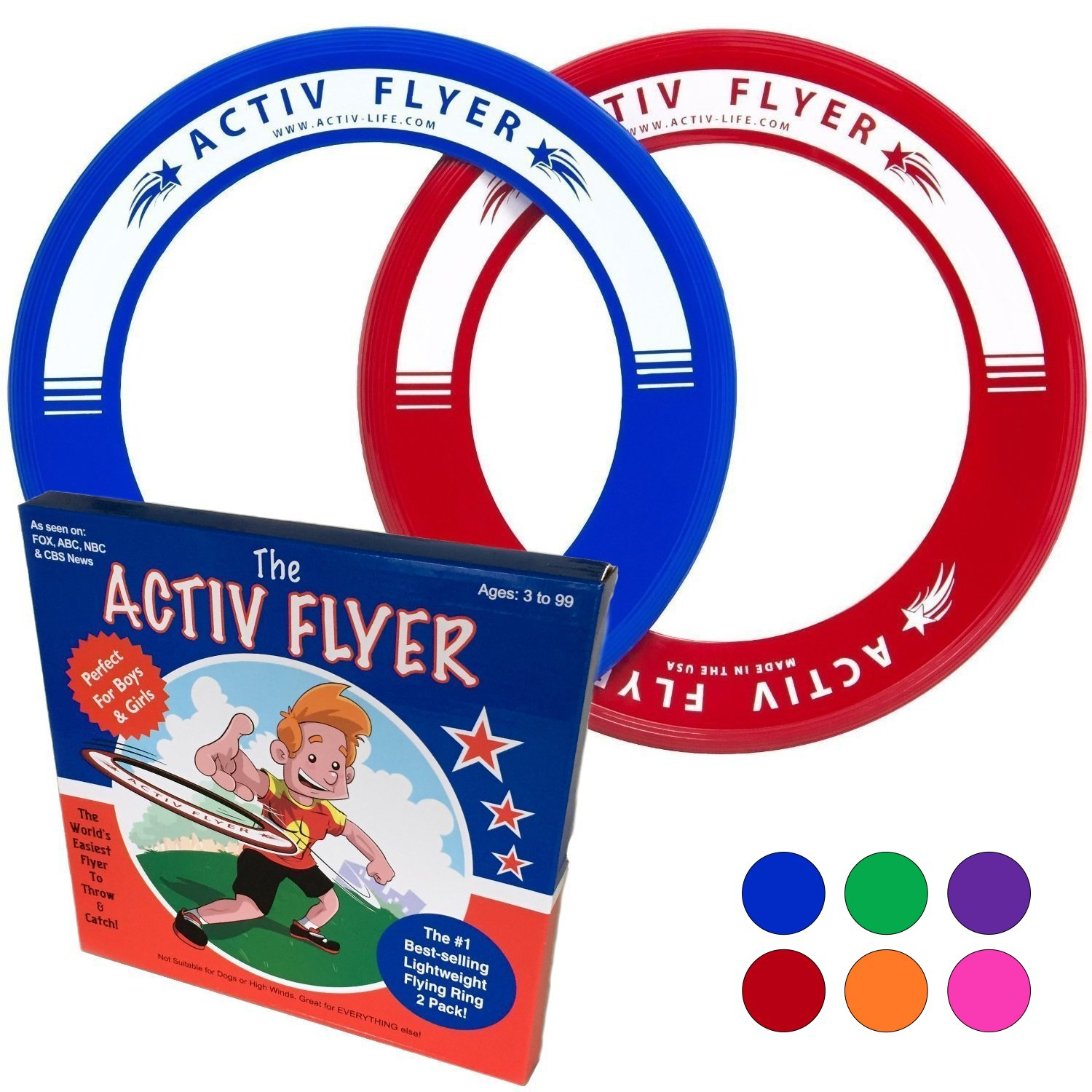 Best Kid's Frisbee Rings - Made in the USA (B010PB26Z0)