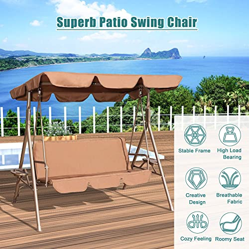 GOLDSUN Durable 3 Person Outdoor Patio Swing