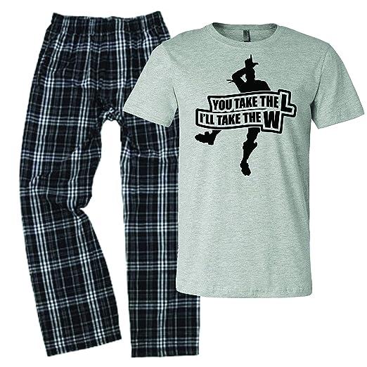4e1d8f036e LivingTees You Take The L I ll Take The W Fortnight Pajamas for Men PJs  Fornight at Amazon Men s Clothing store