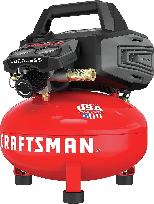 CRAFTSMAN V20 Compressor, Cordless, 2.5-Gallon, 125 PSI (CMCC2520M1)