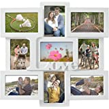Adeco [PF0309] Decorative White Wood ''Love'' Wall Hanging Collage Picture Photo Frame, 4 x 6 -nches
