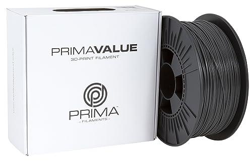 3D Prima PrimaValue PLA Filament, 1.75 mm, 1 kg Spool, Dark Grey