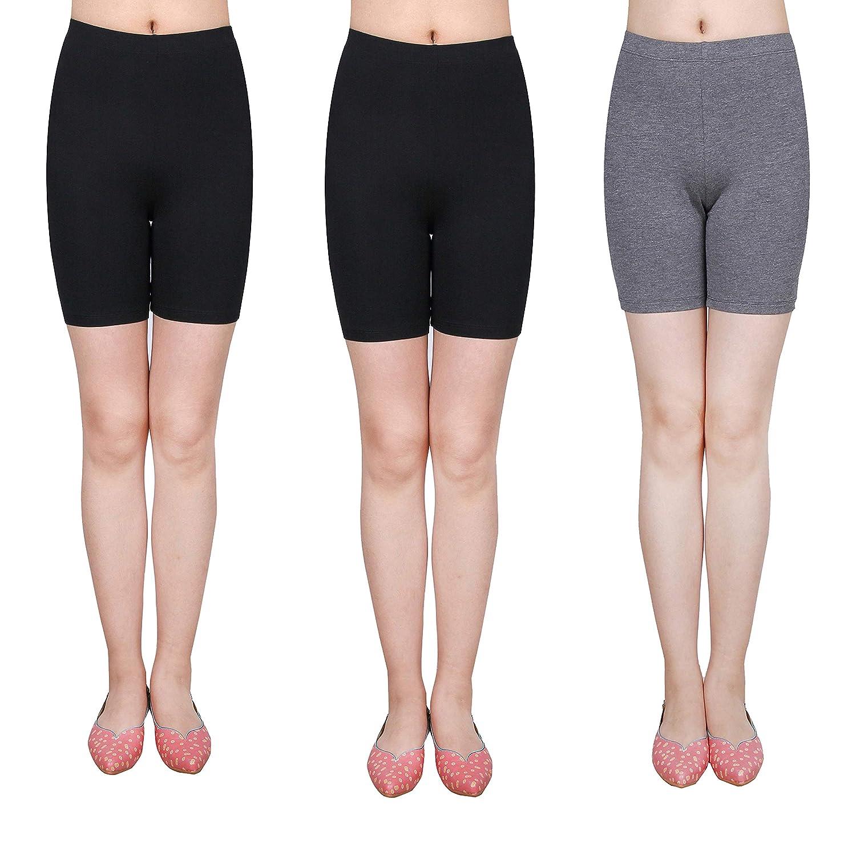 IRELIA 3 Pack Modal Girls Bike Shorts Solid Underwear for School Size 6-16