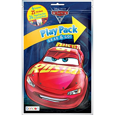 Bendon Cars 3 Coloring Activity Play Pack, Assorted Styles (84315): Toys & Games