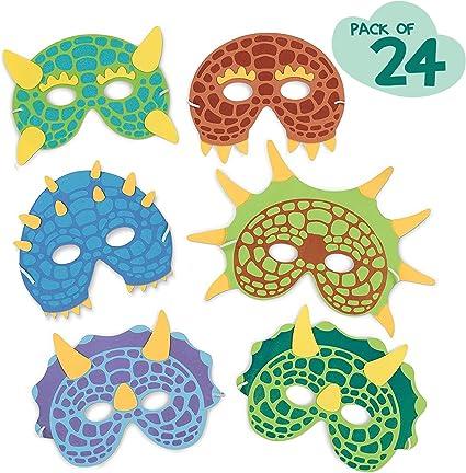 Amazon.com: Máscara de dinosaurio para fiesta de cumpleaños ...
