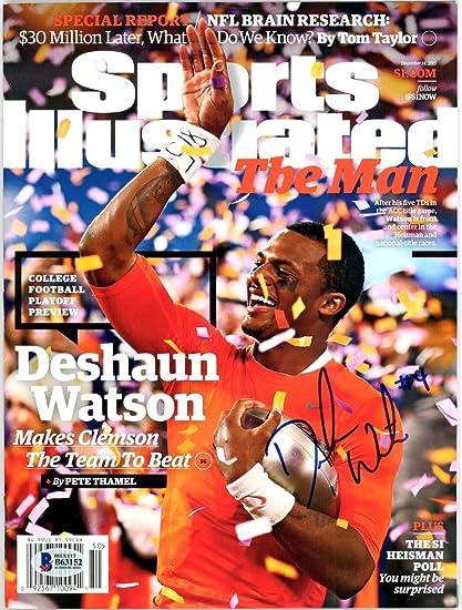 8de49fdea DeShaun Watson Autographed Sports Illustrated Magazine Clemson Tigers -  Beckett COA