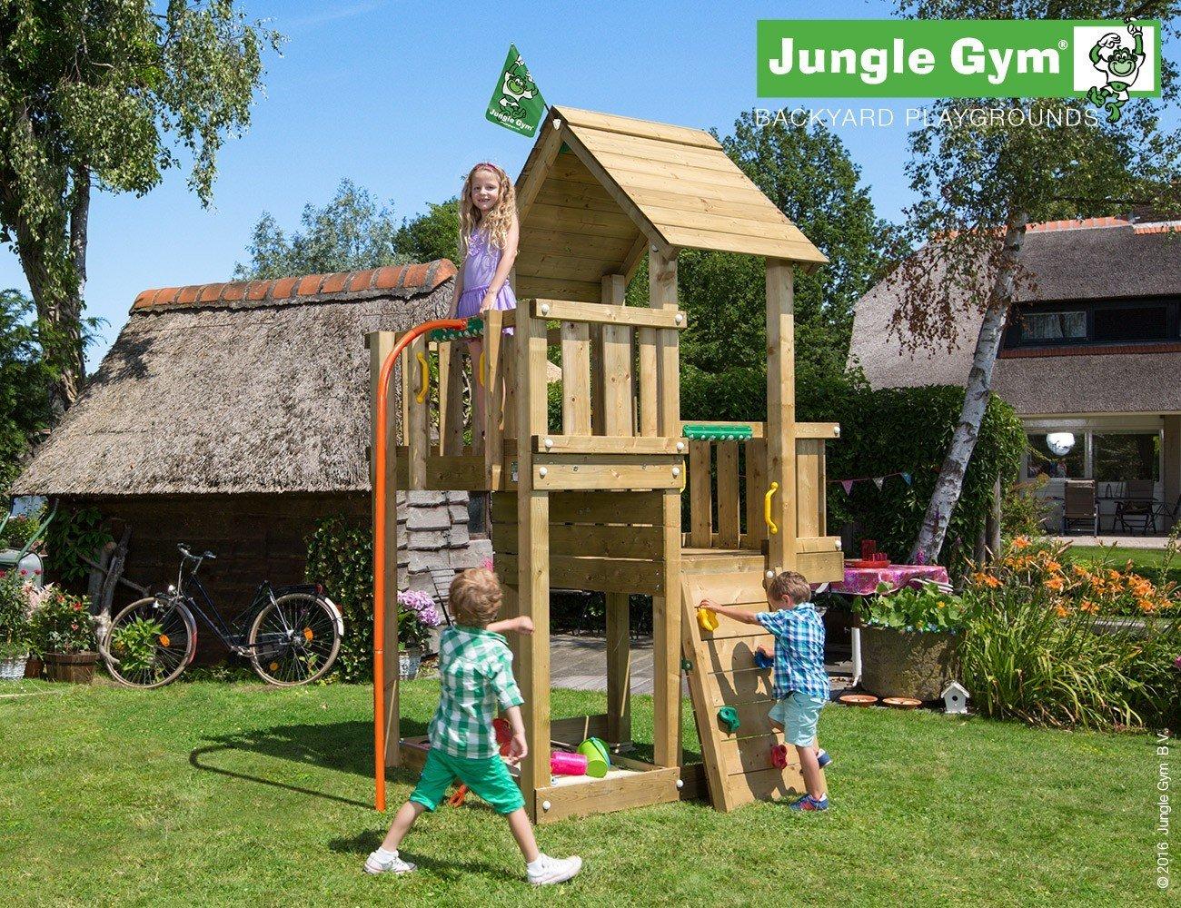 JUNGLE GYM Spielturm Jungle CUBBY mit Rutschstange, Komplettbausatz
