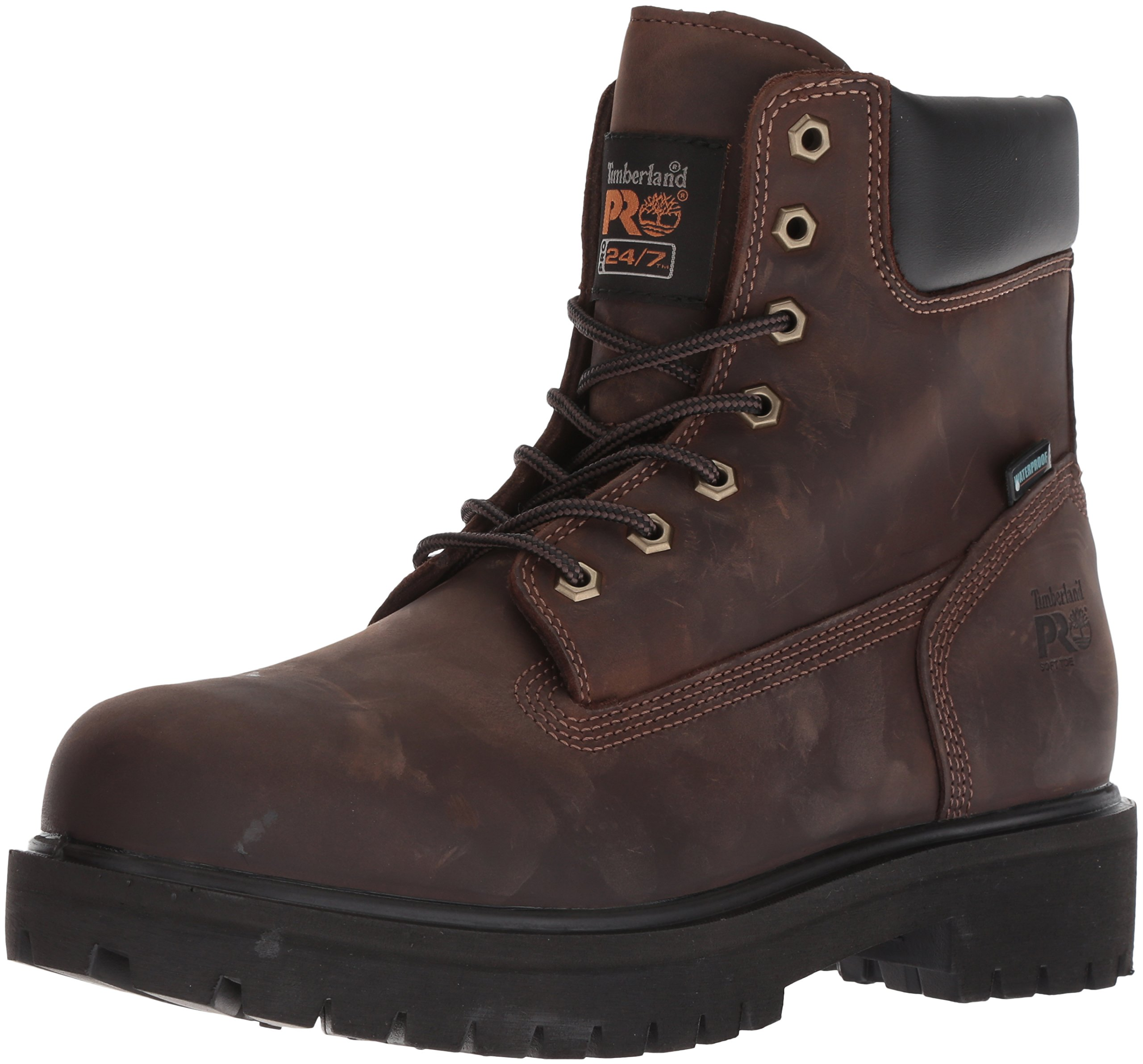 Timberland PRO Men's Direct Attach Six-Inch Soft-Toe Boot, Brown Oiled Full-Grain,12 W by Timberland PRO