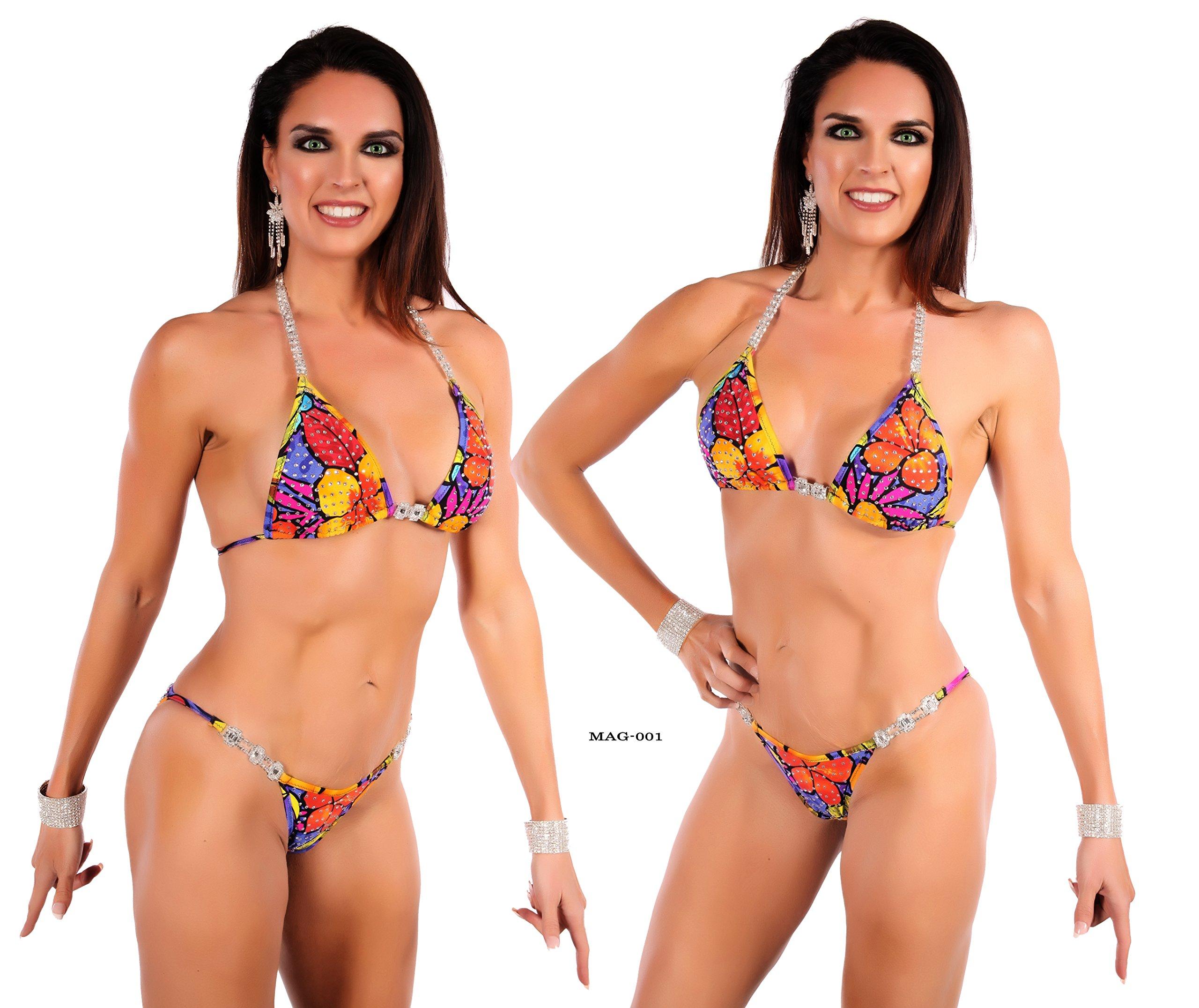 Competition Bikini Suit wtih 5 Connectors and Swarovski Imitation Crystals