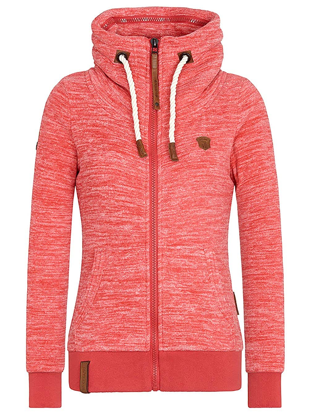 naketano gigi meroni iv damen sweat jacke candy red melange