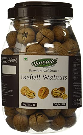 Happilo Premium 100% Natural Californian In Shell Walnut Kernels, 1kg (Free Rupees 400 Bookmyshow Voucher)