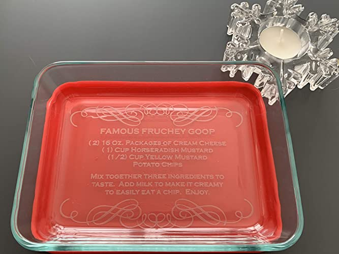Custom Personalized Pyrex 6 Cup 1.5L Casserole Dish and//or Printed Lid