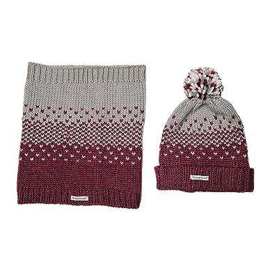 3d61b69aaa0 Horseware Bobble Hat   Snood Garnet  Amazon.co.uk  Clothing