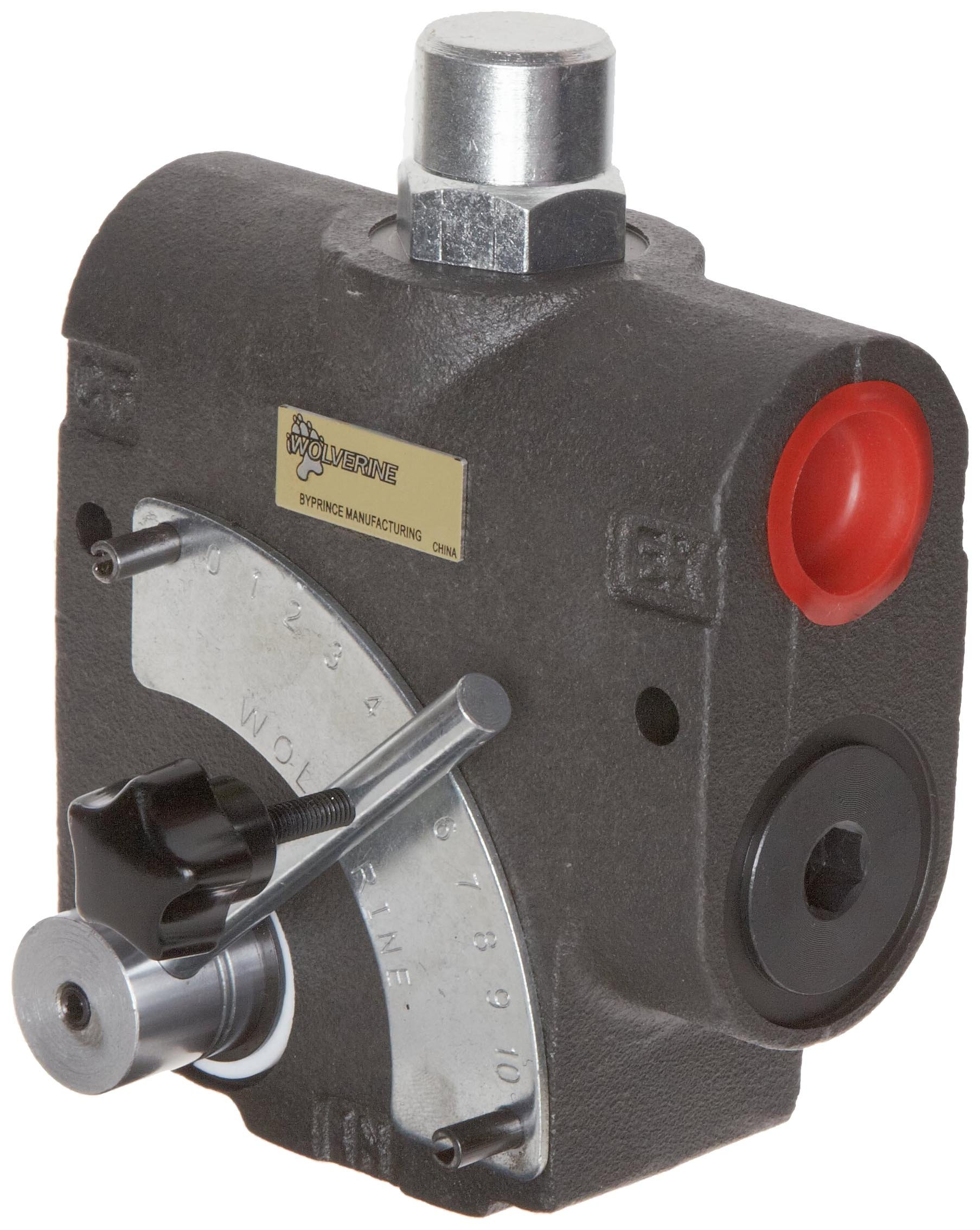 Prince WR-1950-16 Wolverine Adjustible Flow Control Valve with Inlet Relief at 1500 psi, 16 gpm Max Flow, 1/2'' NPTF