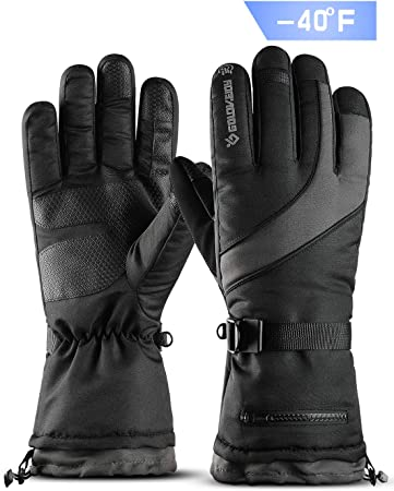F OFF gloves winter ski snow