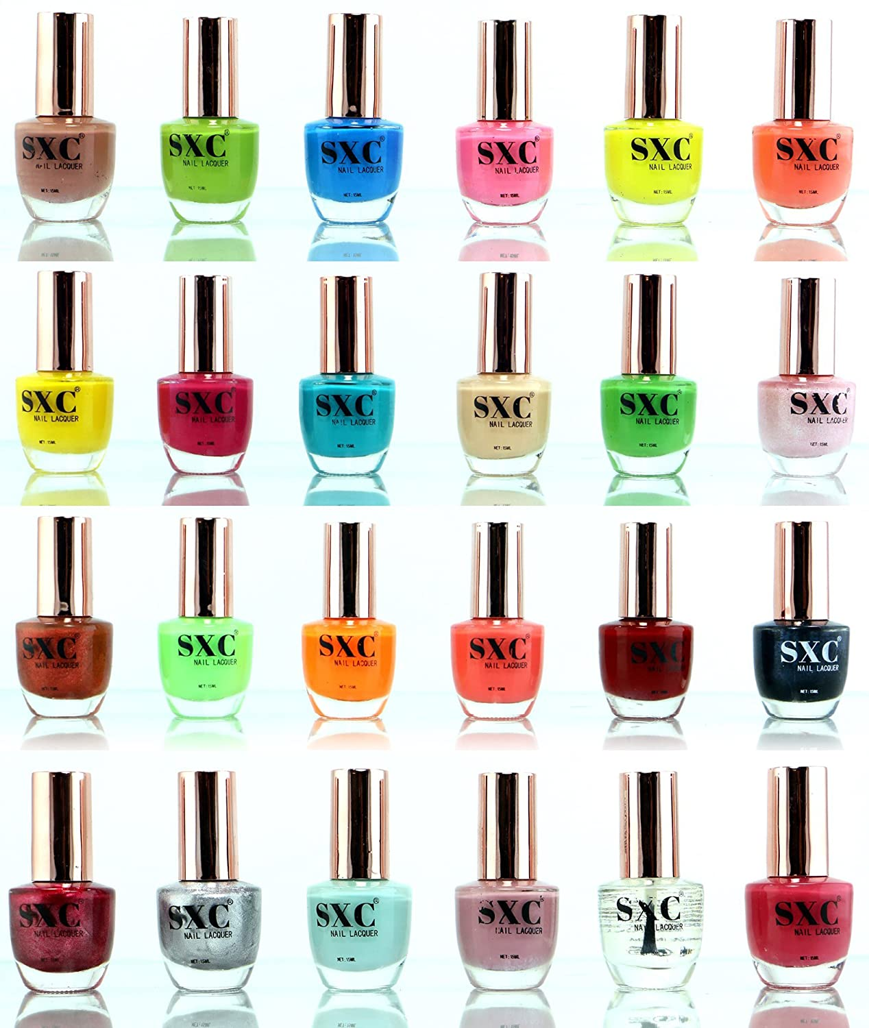 Amazon.com : SXC Cosmetic 24 Holiday Time Collection Nail Lacquer ...