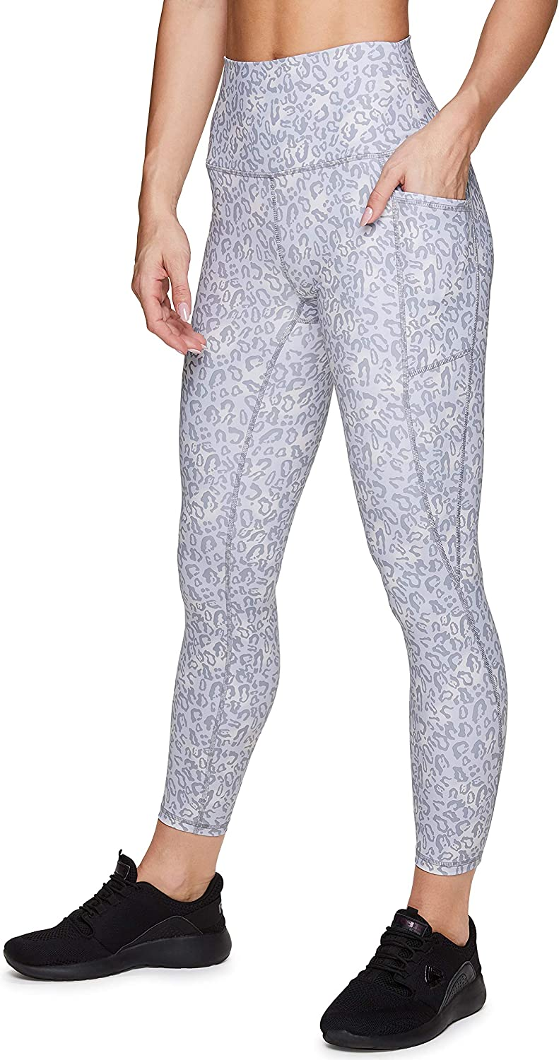 RBX Active Women's Ankle Full Length Printed Athletic Running Workout Yoga Leggings