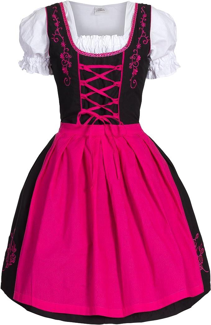36 Damen Trachten Kleid blau pink Gr