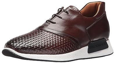 Bruno Magli Men's Dito Fashion Sneaker, Dark Brown Woven, 7 M US