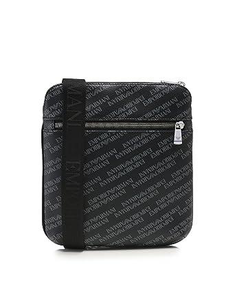 001d067fe5 EMPORIO ARMANI Logo Print Pouch Black One Size  Armani  Amazon.co.uk   Clothing