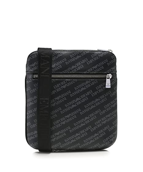 30cf2c9a8444 EMPORIO ARMANI Logo Print Pouch Black One Size  Armani  Amazon.co.uk   Clothing