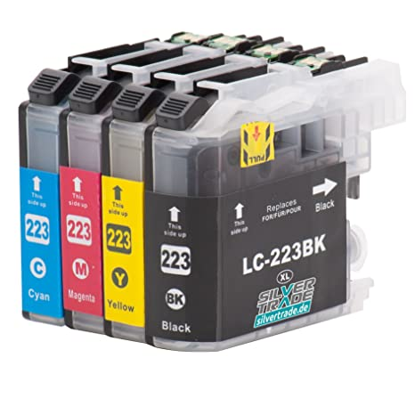 4 Cartuchos de tinta compatibles para Brother LC223XL con chip ...