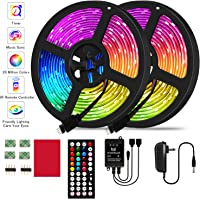 2-Pack Jeryyen RGB LED Strip Lights with Music Sync Color Changing