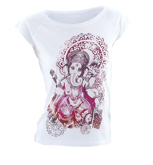 Natural Born Yogi Groovy Ganesha - Camiseta de yoga para mujer: Amazon.es: Deportes y aire libre