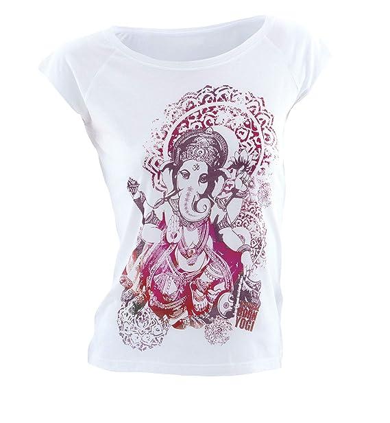 Natural Born Yogi Groovy Ganesha - Camiseta de Yoga para Mujer