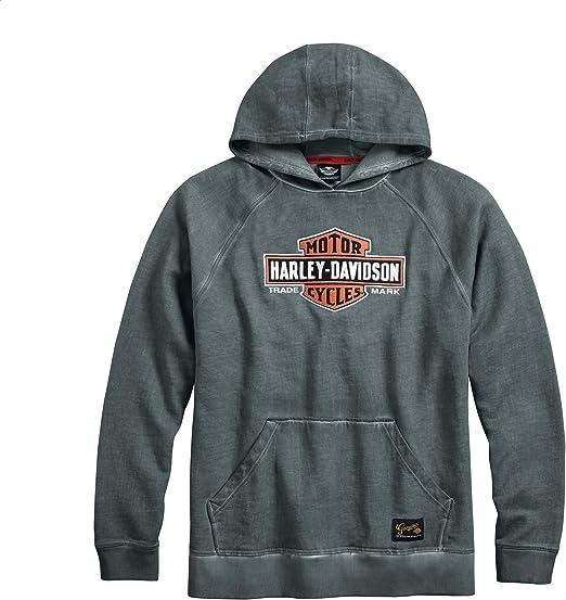 Harley Davidson Black Label Knit Denim Hoody Jumper Hoodie