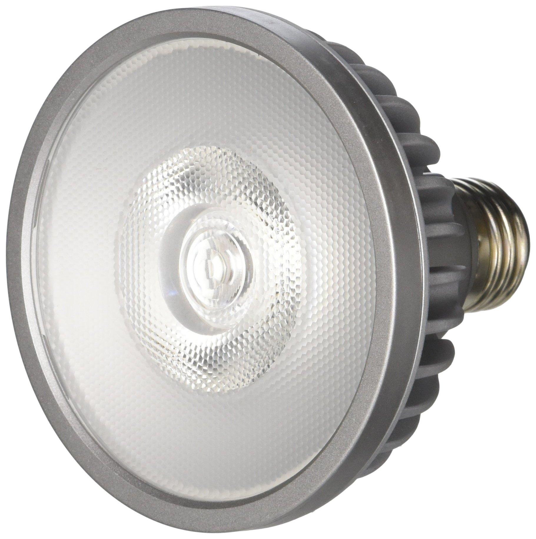 Bulbrite SP30S-18-25D-830-03 SORAA 18.5W LED PAR30S 3000K PREM. 25° Dimmable Light Bulb, Silver