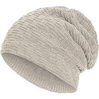 Compagno caldo berretto foderato berretto invernale beanie modello intessuto con soffice fodera interna in pile