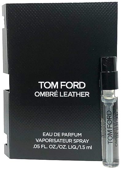 4a6dc53dcde2 Amazon.com   Tom Ford Ombre Leather Eau De Parfum Spray Vial For Men 0.05  Oz   1.5 ml Sample Size   Beauty