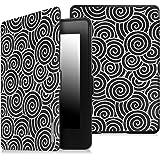 Fintie Kindle Paperwhite Custodia - Case Cover Custodia Ultra Sottile per Amazon Nuovo Kindle Paperwhite (Adatto Tutte le versioni: 2012, 2013, 2014 e 2015 Nuovo 300 ppi), Lazy Bull's Eye Black