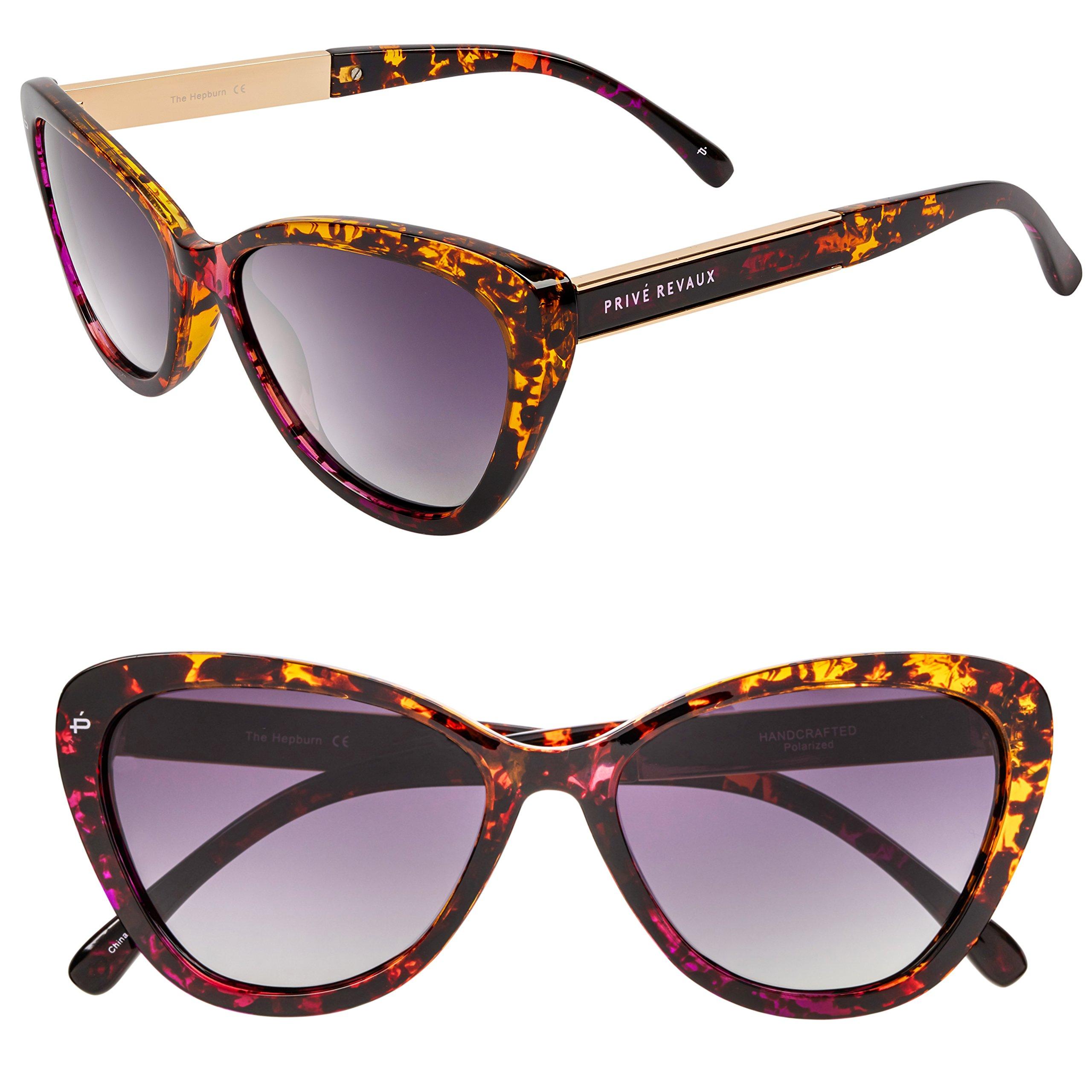 "PRIVÉ REVAUX ICON Collection ""The Hepburn"" Designer Polarized Retro Cat-Eye Sunglasses by PRIVÉ REVAUX (Image #1)"