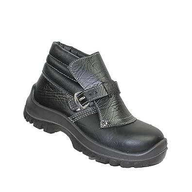 Aimont - Chaussures De Protection Homme Noir Noir En Cuir, Couleur Noir, Taille 38