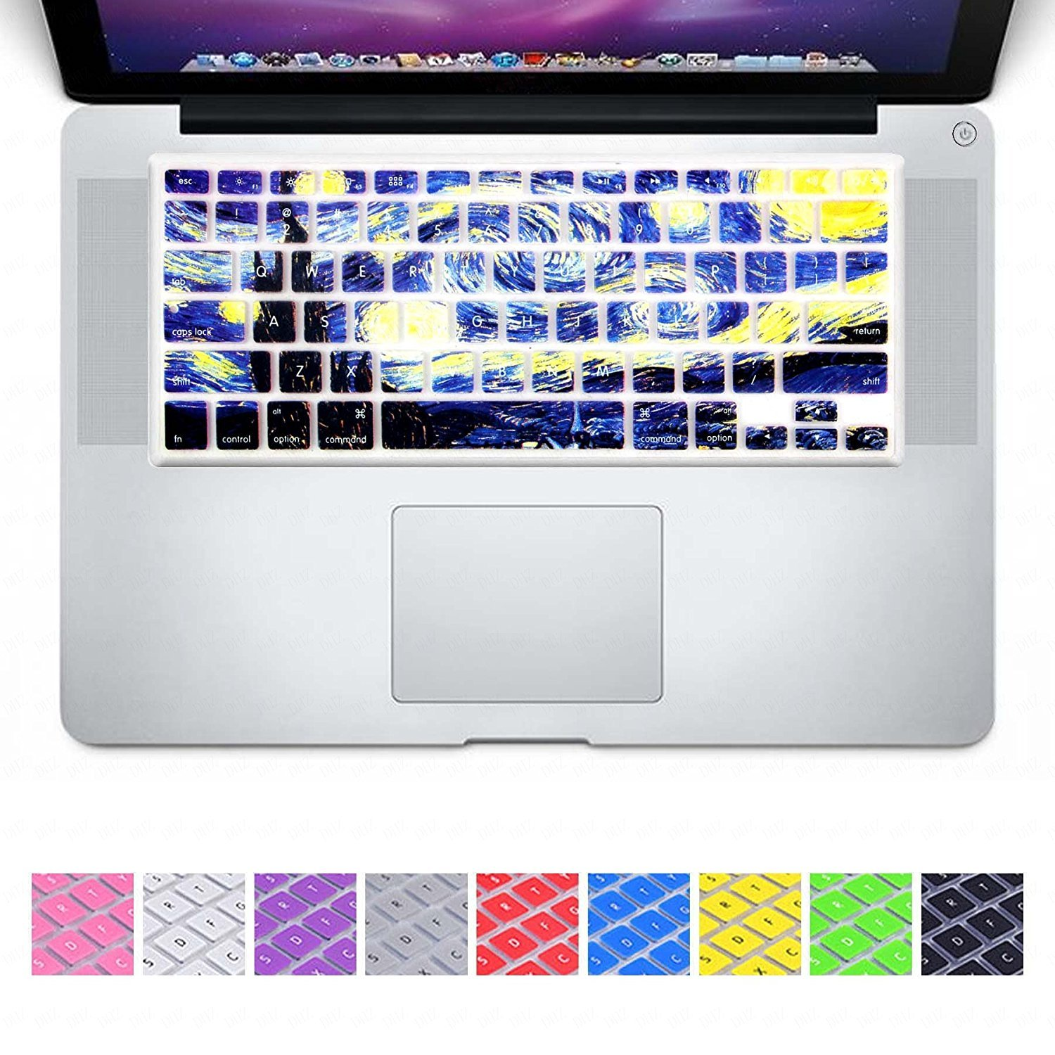 No Fit for 2018 MacBook air 13 or 2017//2016 Released New MacBook Pro 13 15 DHZ Dark Blue Gradient Keyboard Cover Silicone Skin for 2015 or Older Version MacBook Air 13 MacBook Pro 13 15 inch