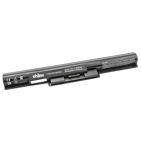 vhbw Li-Ion batería 2600mAh (14.8V) Negro para Ordenador portátil Laptop Notebook