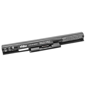 vhbw Li-Ion batería 2600mAh (14.8V) Negro para Laptop Notebook Sony Vaio