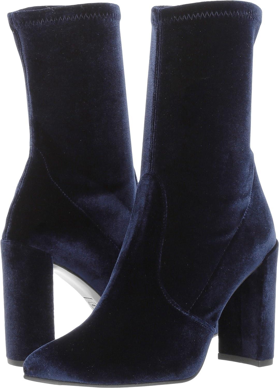 Stuart Weitzman Women's Clinger Ankle Boot B06W9GJFN9 10 B(M) US|Baltic Stretch Velvet