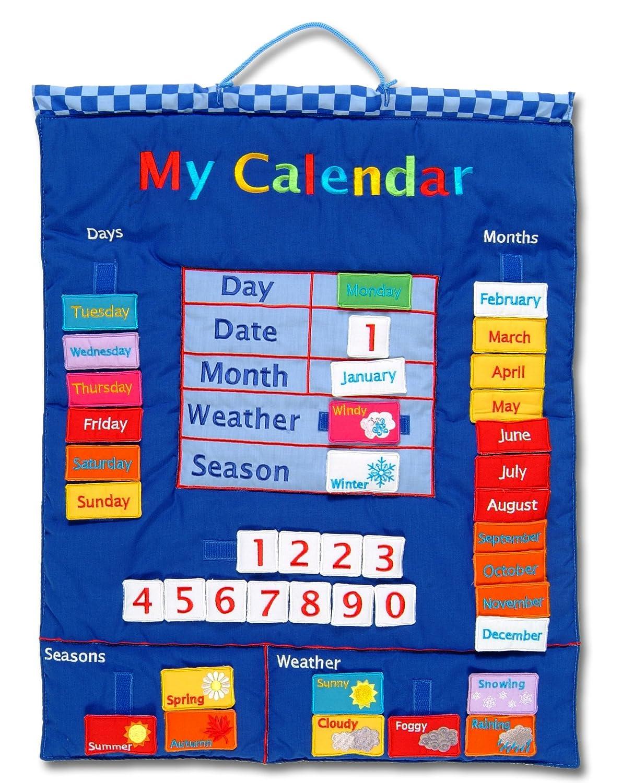 【超歓迎された】 My My Calendar Blue Wall Hanging Hanging Wall B00062RV6I, エリザベス宝石:aecd204d --- mrplusfm.net