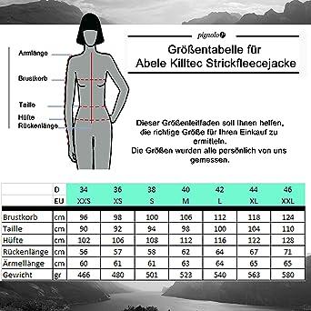 reputable site f75fb 39b2d Killtec Strickfleece-Jacke Damen Fleecejacke Reißverschluss dünn warm ohne  Kapuze mit Stehkragen Microfleece in vielen Farben Abele