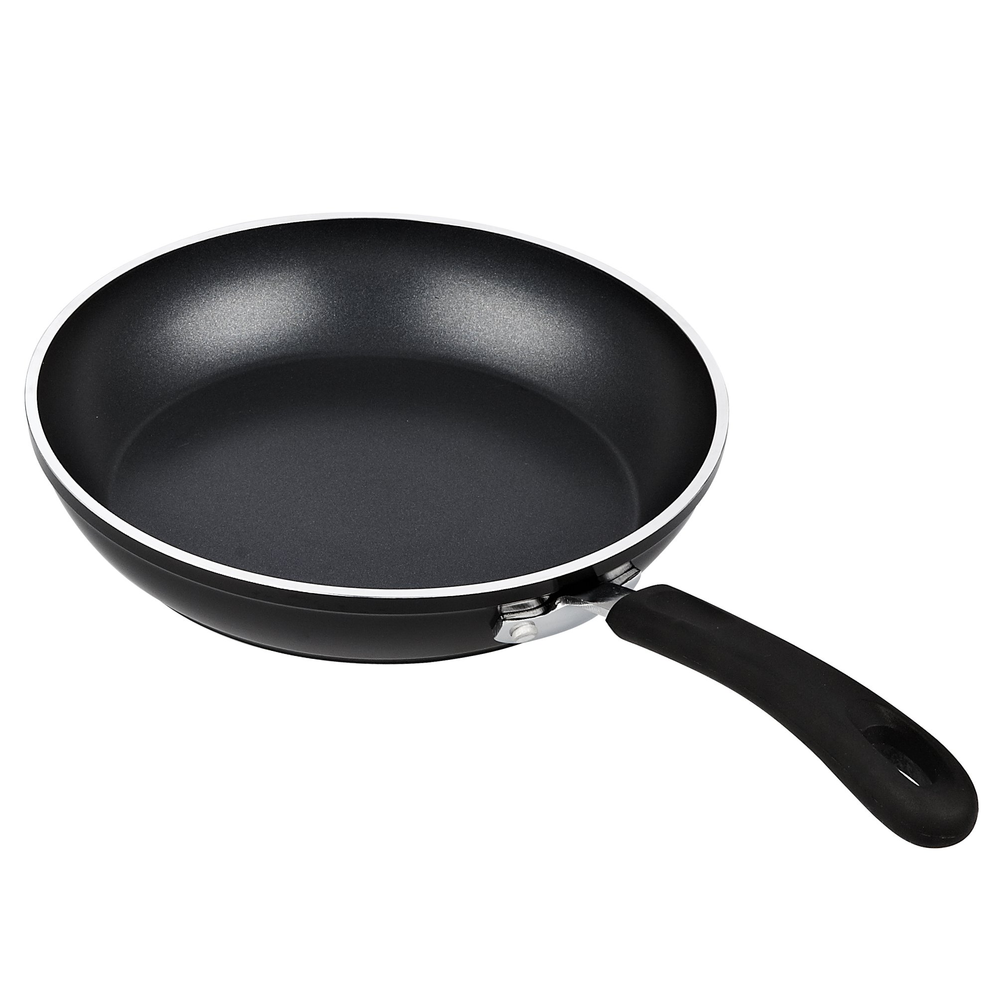 Cook N Home 3 Piece Frying Pan/Saute Pan Set with Non-Stick Coating Induction Compatible Bottom, 8''/10''/12'', Black by Cook N Home (Image #3)